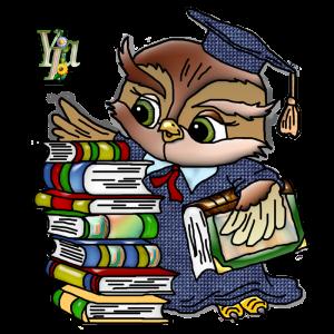 сова з книгами